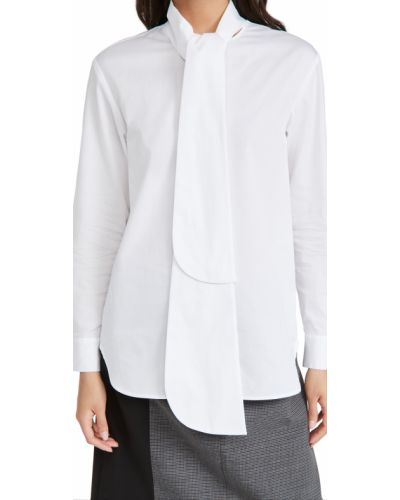 Biała koszula bawełniana z długimi rękawami Tibi