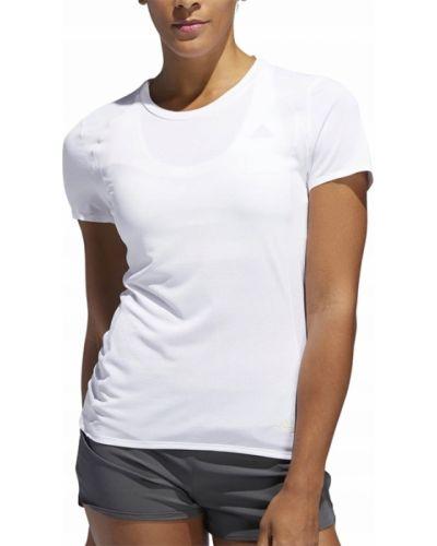 Biały t-shirt okrągły Adidas