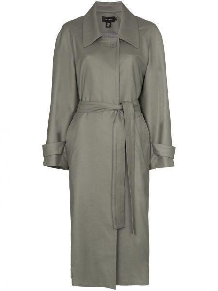 Шерстяной пальто классическое на пуговицах с воротником Low Classic