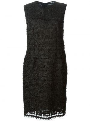Платье с поясом винтажная черное Jean Louis Scherrer Pre-owned