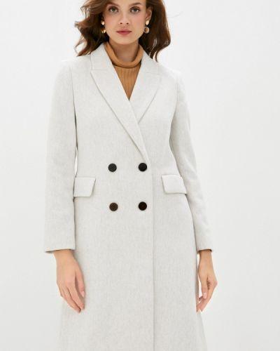 Белое пальто двубортное Mango