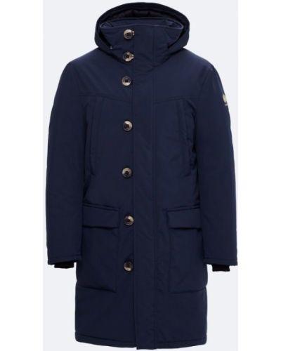 Зимняя куртка на пуговицах синяя Kanuk