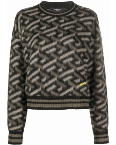 Шерстяной джемпер - черный Versace Collection