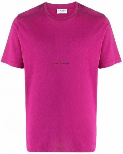 Różowa t-shirt Saint Laurent