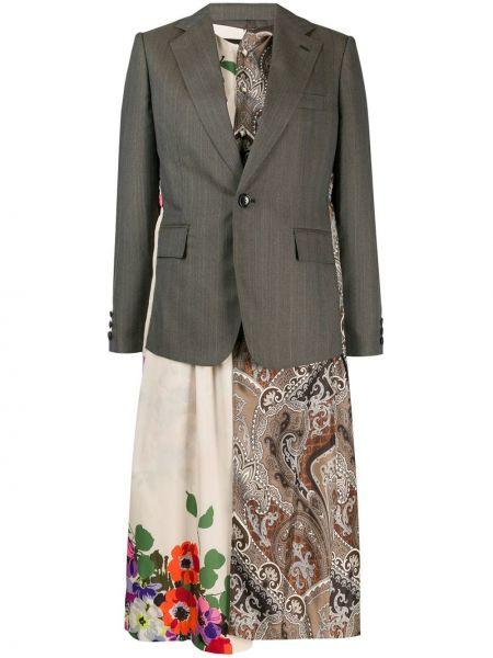 Шерстяной пиджак с карманами на пуговицах Junya Watanabe