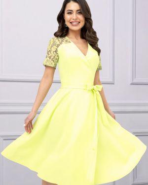 Платье с поясом платье-сарафан ажурное Charutti