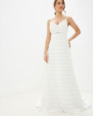 Свадебное платье осеннее бежевое Amour Bridal
