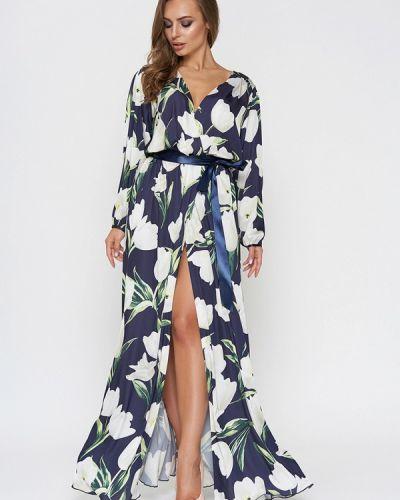 Вечернее платье весеннее синее Sellin