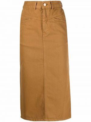 Spódnica jeansowa z paskiem - niebieska Essentiel Antwerp