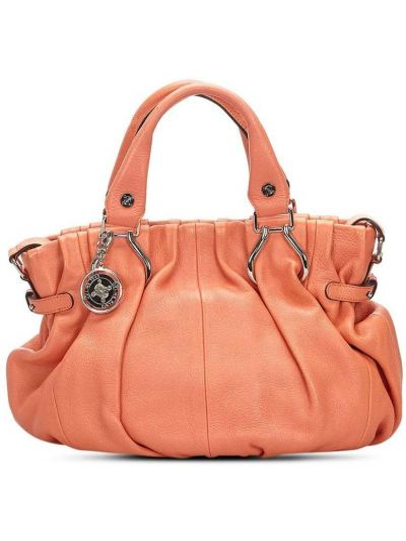 Кожаная оранжевая маленькая сумка с подвесками Céline Pre-owned