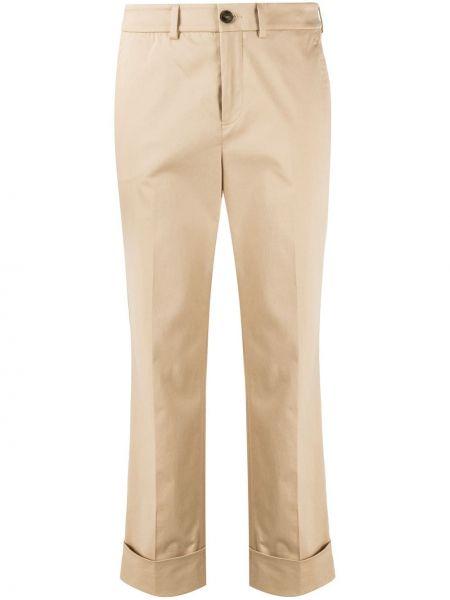 Укороченные брюки с поясом с карманами Incotex