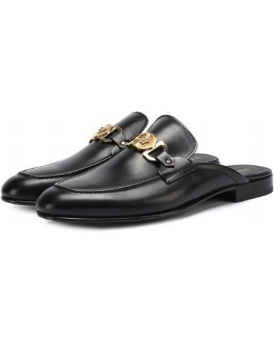 Черное сабо Versace