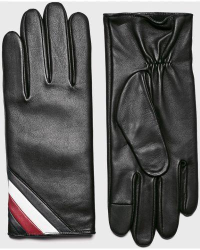 Skórzany rękawiczki wełniany nylon Tommy Hilfiger