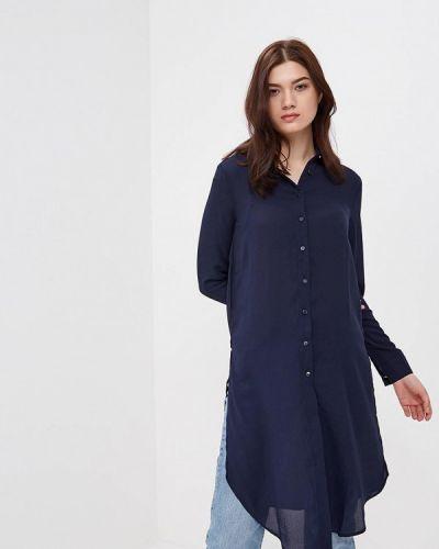 Синее платье рубашка Modis