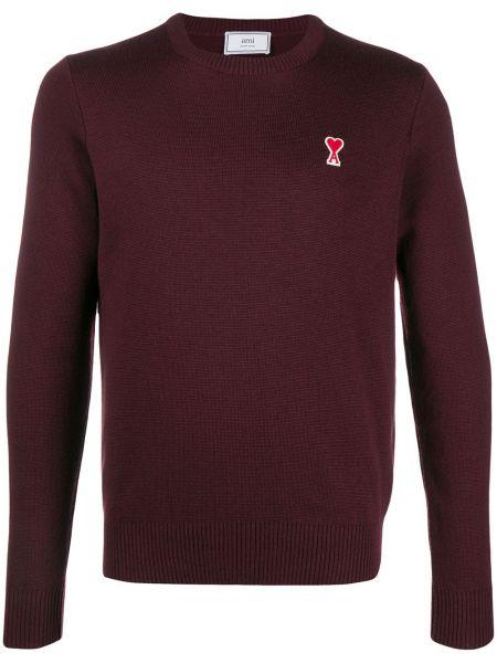Шерстяной свитер - красный Ami Paris
