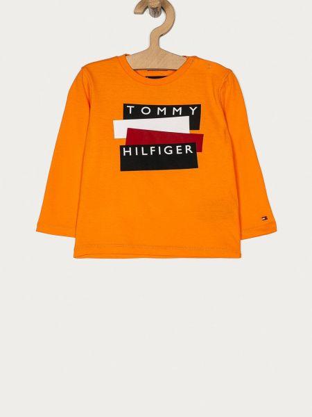 Хлопковый лонгслив с вырезом круглый Tommy Hilfiger