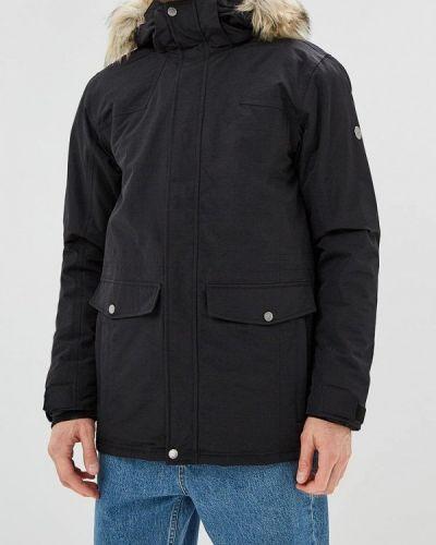 Утепленная куртка демисезонная черная Five Seasons