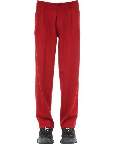 Spodnie wełniane z paskiem z haftem Passarella Death Squad