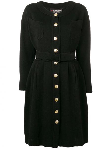 Платье с поясом винтажная на пуговицах Fendi Pre-owned