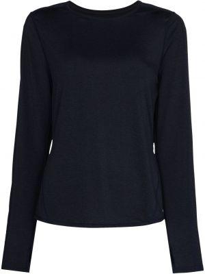 Niebieska T-shirt z nadrukiem z długimi rękawami z printem Sweaty Betty