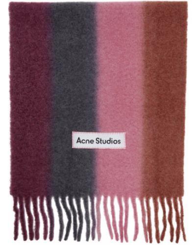 Czarny szalik wełniany w paski Acne Studios