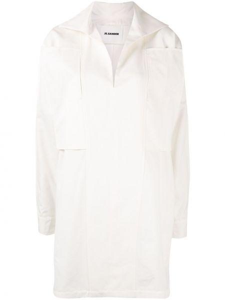 Tunika z długimi rękawami - biała Jil Sander