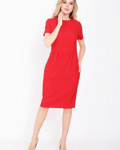 Прямое красное платье А-силуэта Magnet