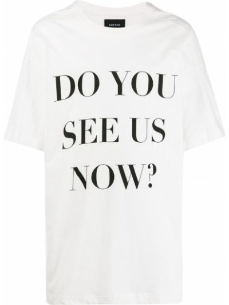 Biały t-shirt bawełniany oversize Botter