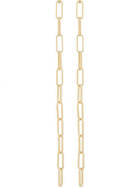 Золотистые серьги золотые металлические Federica Tosi