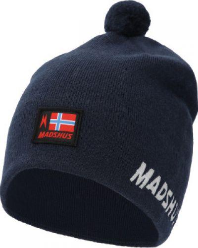 Шерстяная синяя спортивная шапка для бега Madshus