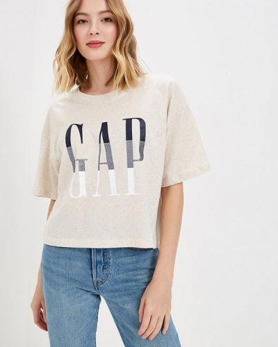 Бежевая футболка 2019 Gap