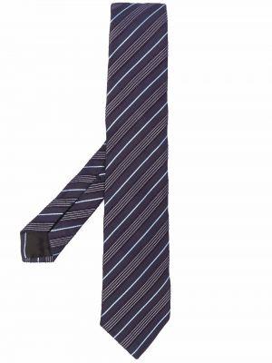 Biały krawat w paski wełniany Boss Hugo Boss