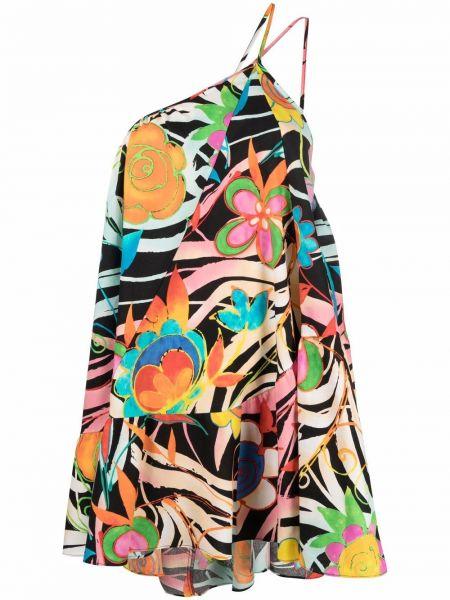 Sukienka mini z printem - czarna Collina Strada