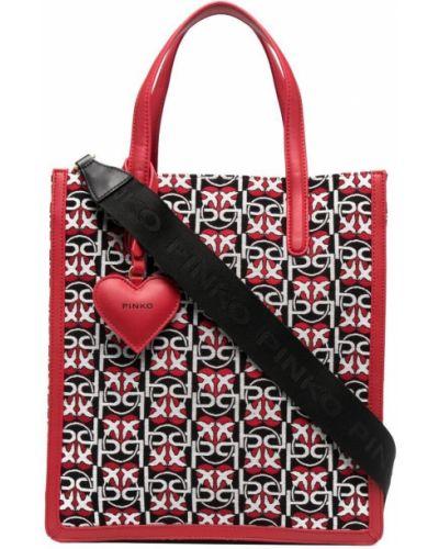 Хлопковая черная сумка-тоут с подвесками Pinko