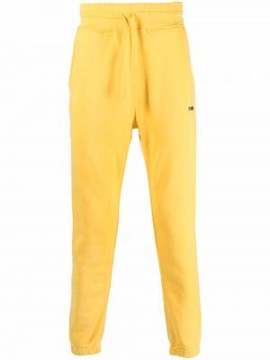 Żółte spodnie z printem Hydrogen