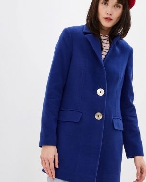 Синее пальто с капюшоном Koton