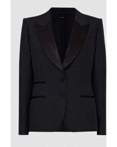 Шерстяной черный пиджак Tom Ford