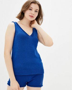 Синий вязаный костюм Sewel