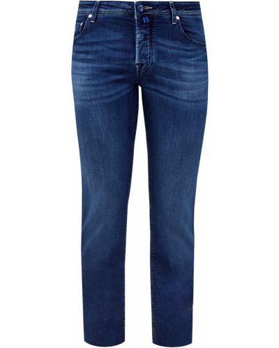 Деловые серебряные теплые джинсы с нашивками Jacob Cohen