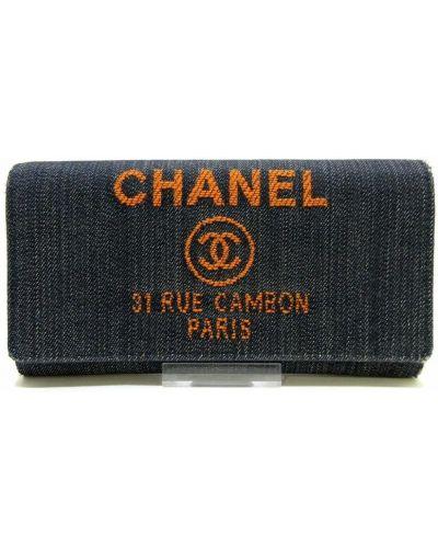 Niebieski portfel Chanel Vintage