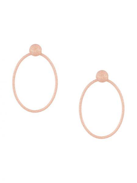 Розовые золотые серьги Carolina Bucci