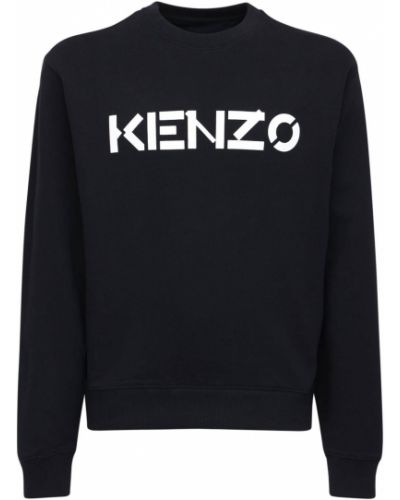 Czarny bawełna bawełna bluza Kenzo