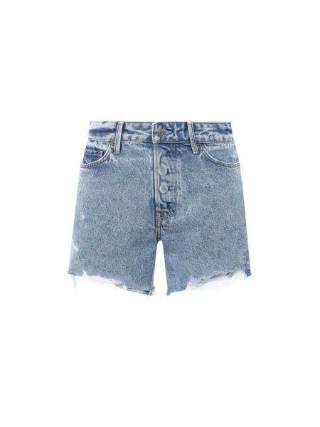 Хлопковые синие джинсовые шорты Grlfrnd