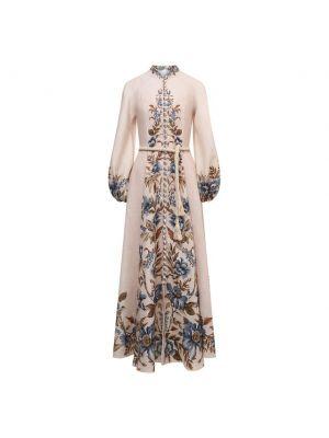 Льняное платье - белое Zimmermann