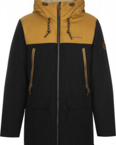 Черная утепленная длинная куртка на синтепоне Merrell