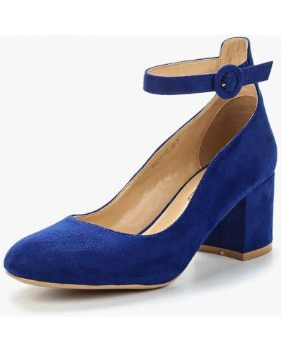 Синие замшевые туфли с застежкой на лодыжке Inario