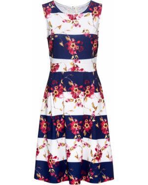 Летнее платье мини синее Bonprix