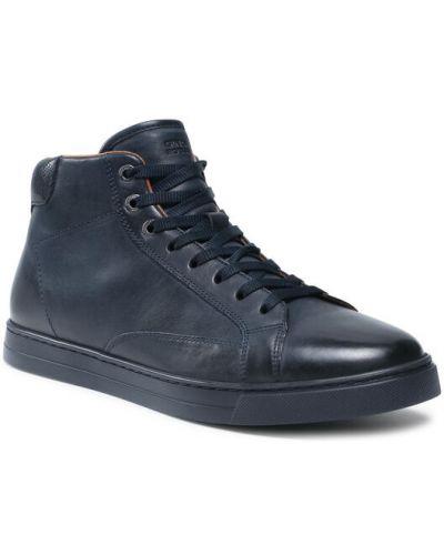 Sneakersy granatowe Gino Rossi