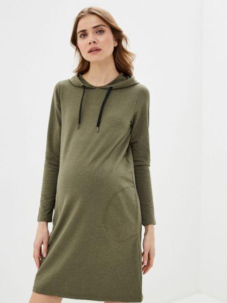 Платье для беременных зеленый весеннее Mama.licious