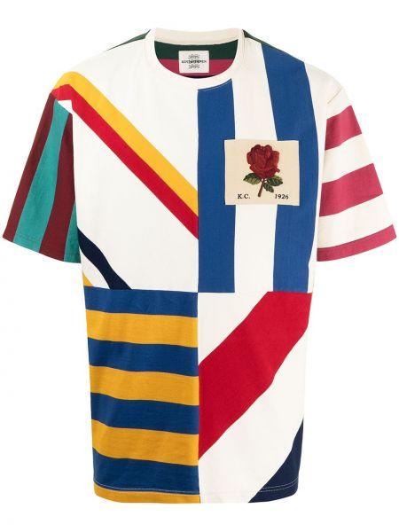 T-shirt bawełniany krótki rękaw z printem Kent & Curwen